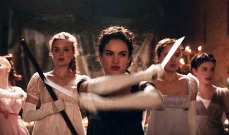 Lily-James-fighting-in-new-film